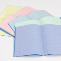 9x7'' TINTED EXERCISE BOOKS (LINED)