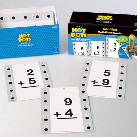 HOT DOTS 'MATH FLASH CARDS'