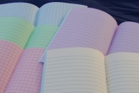9x7'' TINTED EXERCISE BOOKS (SQUARED)