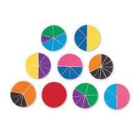 MAGNETIC RAINBOW FRACTION CIRCLES